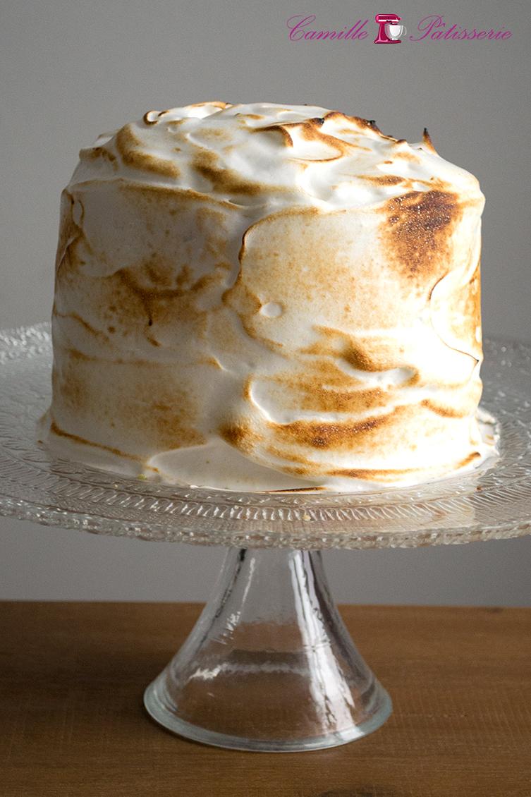 Gâteau d'anniversaire citron meringué