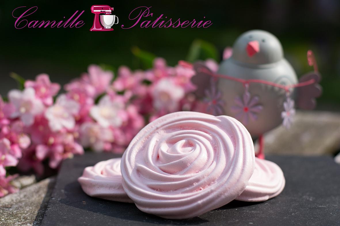 Meringues rose de la fête des mères