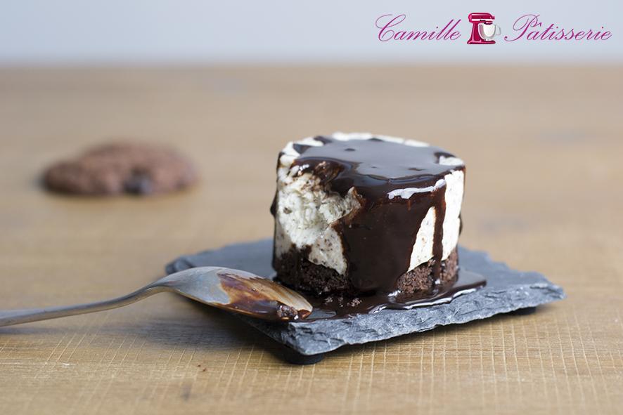 Cheesecake glacé stracciatella sans cuisson