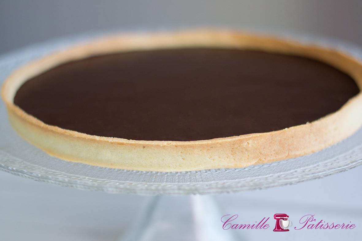 Tarte au chocolat facile camille p tisserie - Tarte aux chocolat facile ...