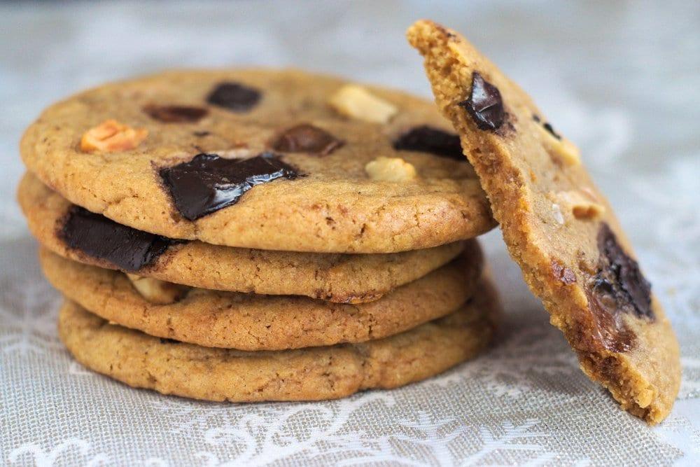 Cookies chocolat, noix de macadamia et galabé